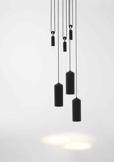 Porcelain Pulley Lamp in black | lighting . Beleuchtung . luminaires | Design: Studio WM |