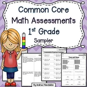 Common Core Math Assessments Freebie for First Grade! Great for assessing students!