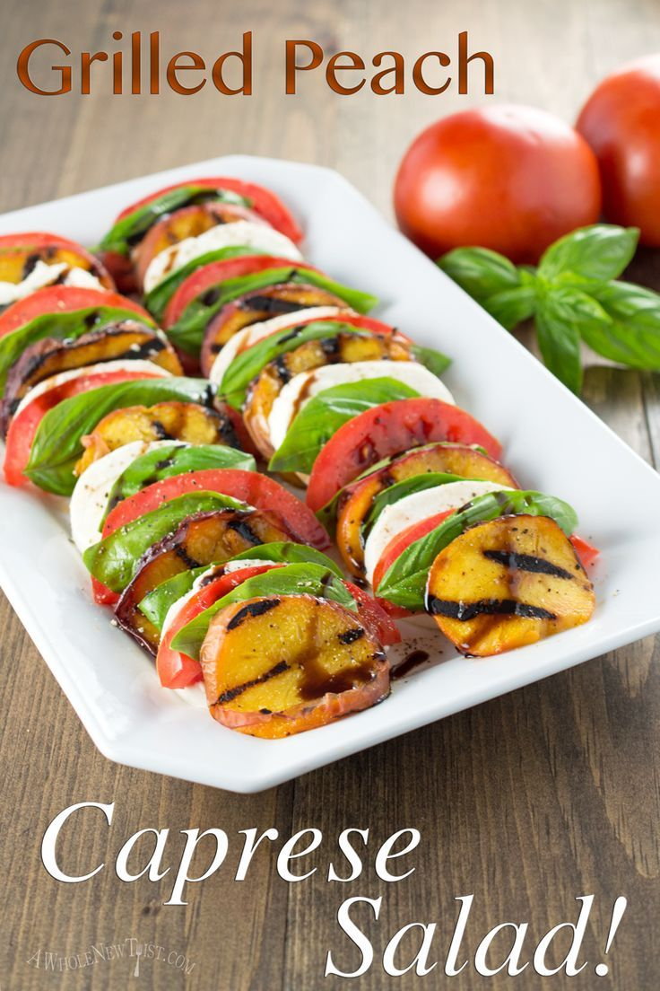 Grilled Peach Caprese Salad is a whole new twist on a classic Italian dish…