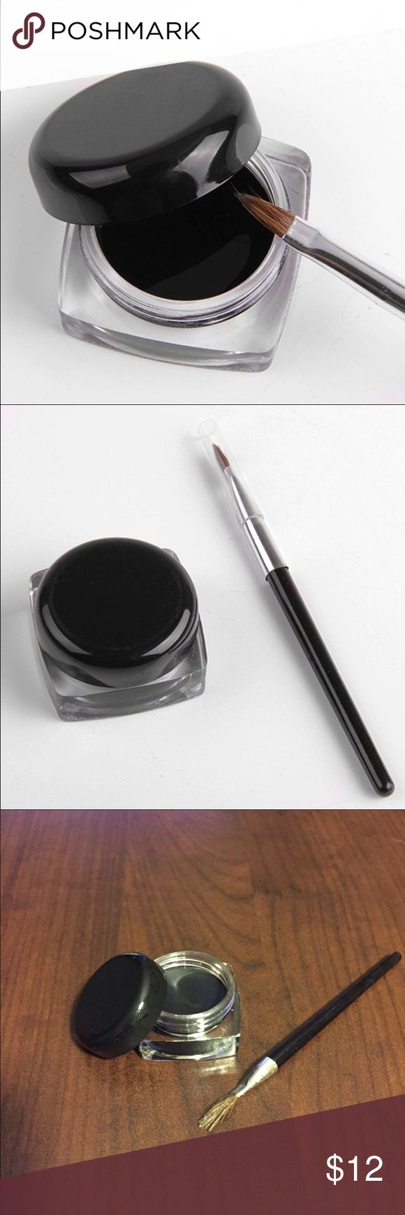 New Gel Eyeliner Brand new Black Gel Eyeliner. Waterproof and long-lasting formula. Comes with a brush! Non-branded. Bundle 3 items for 20% off! Makeup Eyeliner