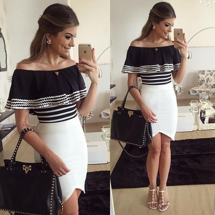 """""""{Do dia} Look @dressingupp com o body mais lindoooo com saia assimétrica, a queridinha do verão! ❤️❤️ Disponível on-line www.dressingup.com.br •…"""""""