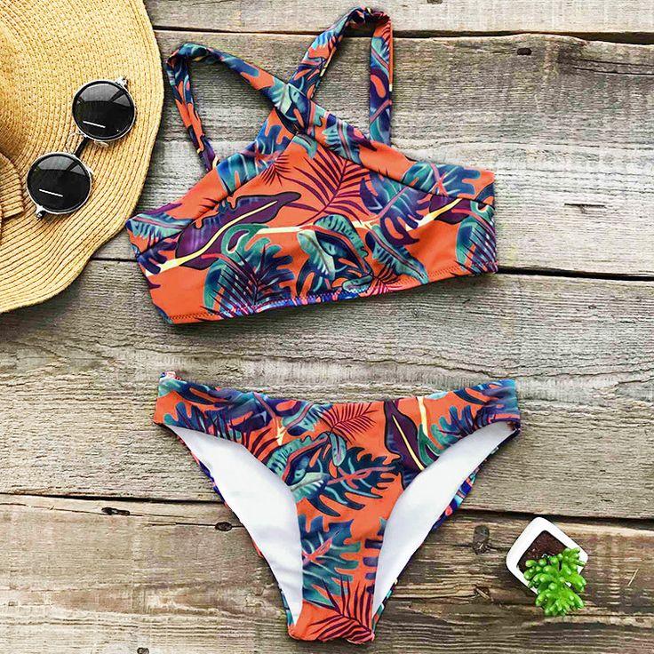 Cupshe Leaves at Sunset Bikini Set