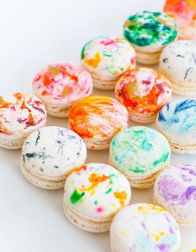Macarons peints