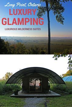 Luxury Glamping in Long Point, Ontario, Canada.