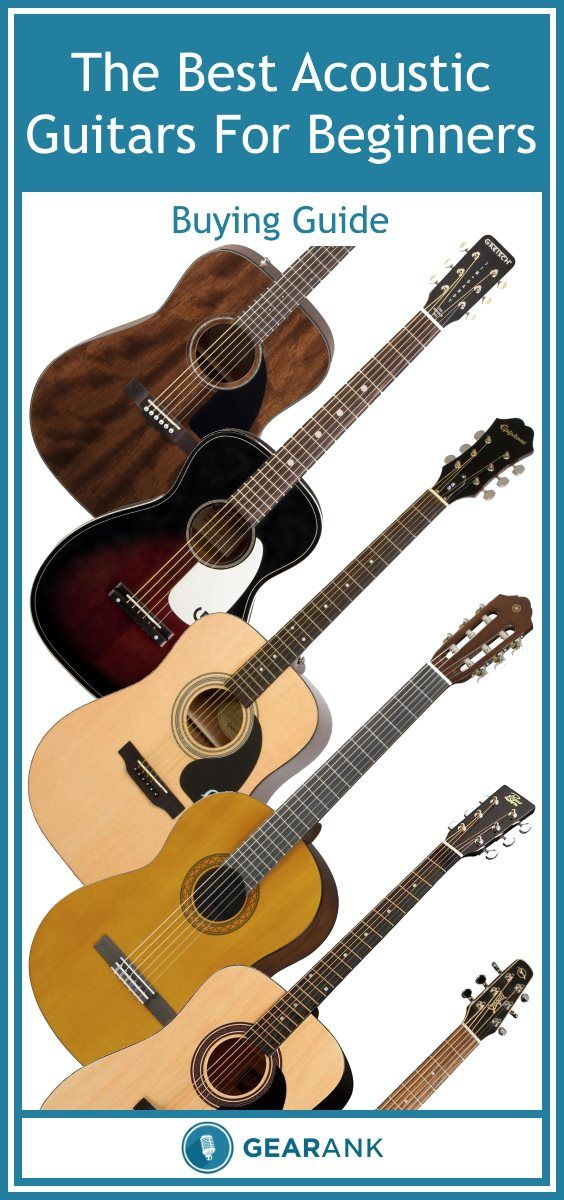 Detailed guide to The Best Acoustic Guitars For Beginners. This guide offers advice on which guitars are best suited to beginners of various ages and sizes from young children up to adults.