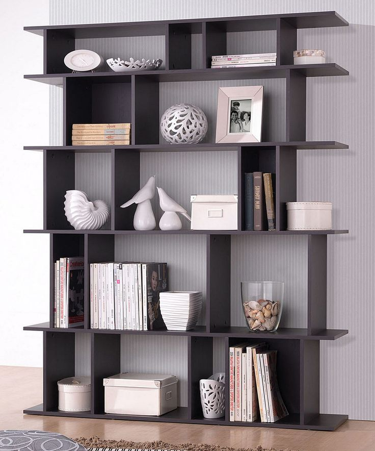 Dark brown tilson modern bookcase studios modern bookcase and bookcases - Modern bookshelf plans ...