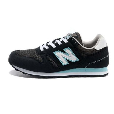 New Balance WI574 Black Blue Trainers as seen on Alexa Chung