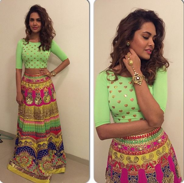 Top Indian fashion and lifestyle blog: Esha Gupta in Indian by Manish Arora