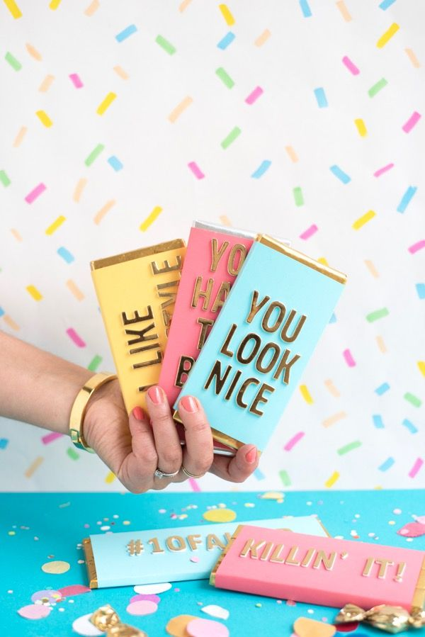 Compliment Candy Bars DIY | Oh Happy Day!    #diy #gifts