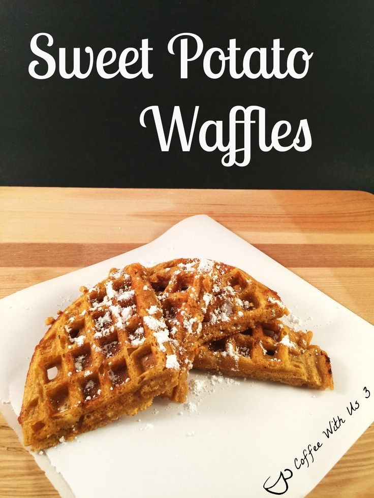 Sweet Potato Waffles--to make a bit sweeter use brown sugar...and a little more than 1 tbls.