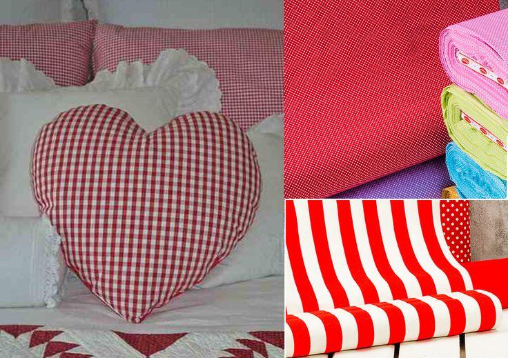 Текстильное сердце - подушка валентинка на праздник. Можно использовать бязь, скатертную ткань в горошек, полоску, клетку. Подушка-сердце на Valentin's day