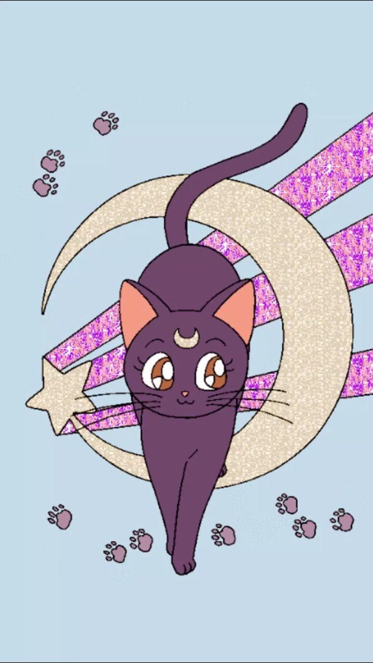 Image result for luna sailor moon cat