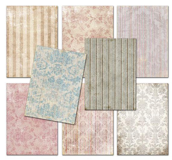 Damask Shabby chic  Wallpaper Vintage papers by MemoriesPictures, $3.50