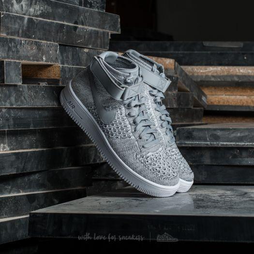 Nike AF1 Ultra Flyknit Mid Wolf Grey/ Wolf Grey-White za 3 990 Kč