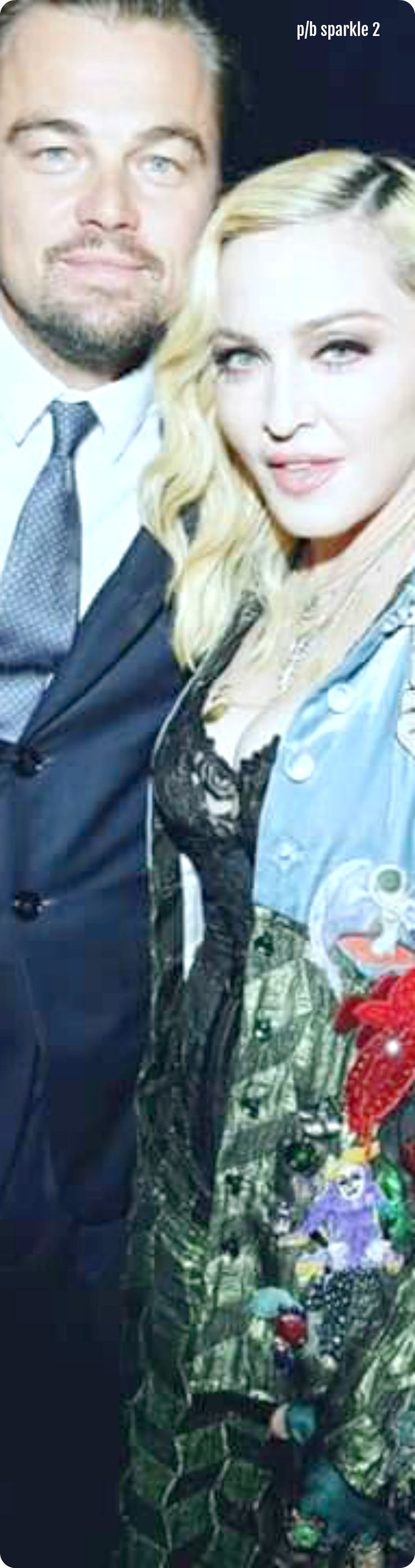 Leonardo DiCaprio and Madonna at the Leonardo DiCaprio Foundation gala extravaganza in St. Tropez, France, July 2017