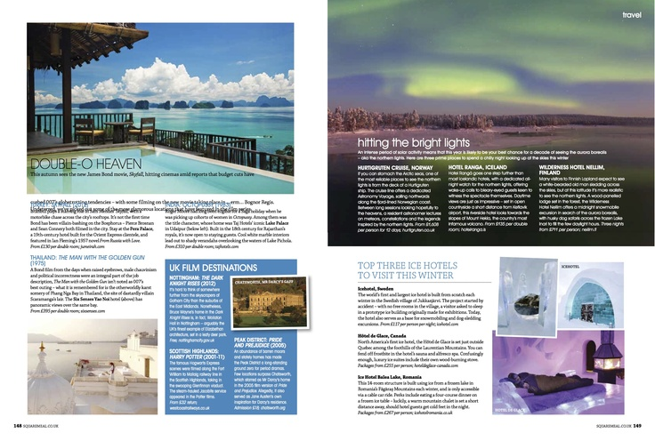 Square Meal Travel News Ice Hotel Feature October 2012