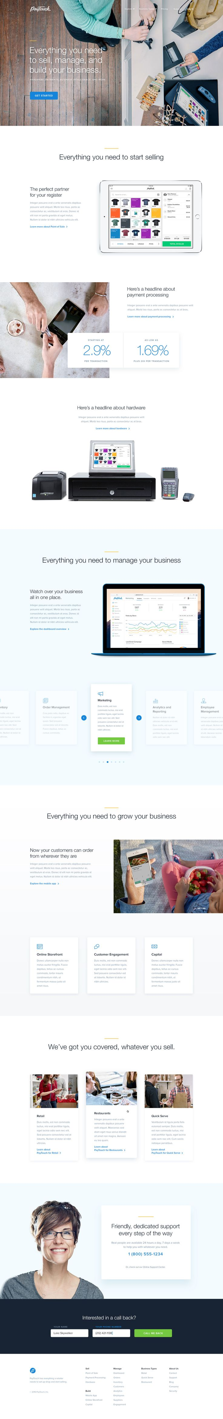 Paytouch homepage full