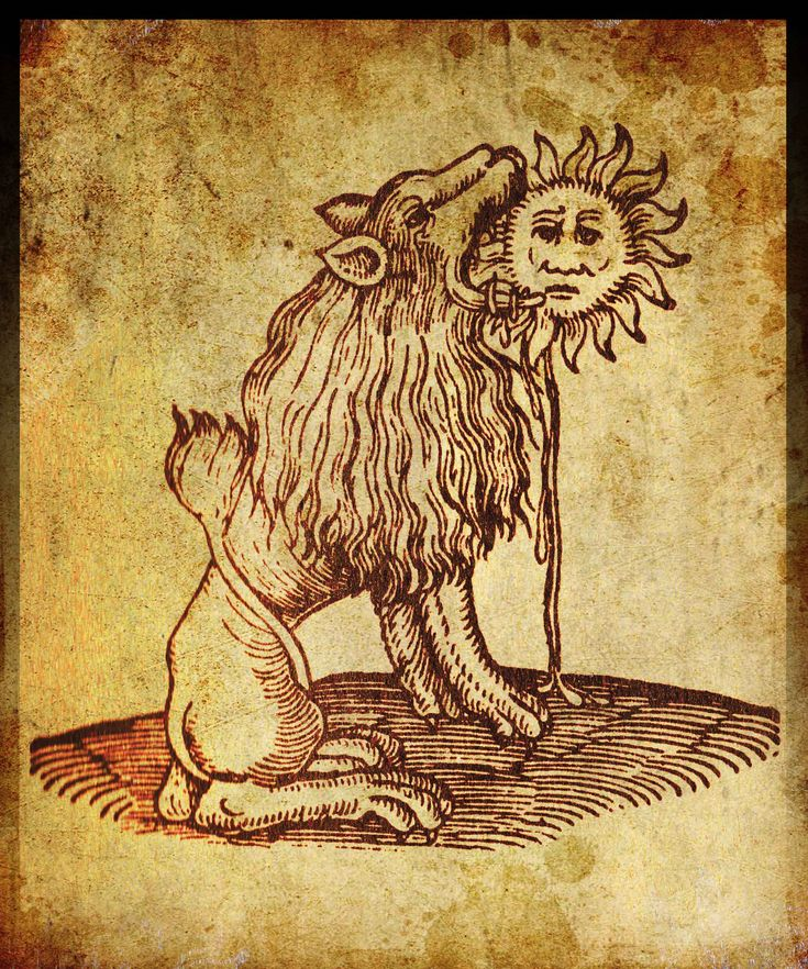 one of the classic symbols of alchemy - the green lion devouring the sun. As with most of the striking, and to the modern mind, somewhat 'surreal' images which populate these works, they have a bewildering range of possible meanings.