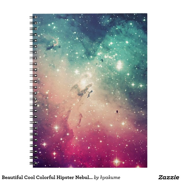 Beautiful Cool Colorful Hipster Nebula Stars Photo Spiral Notebook
