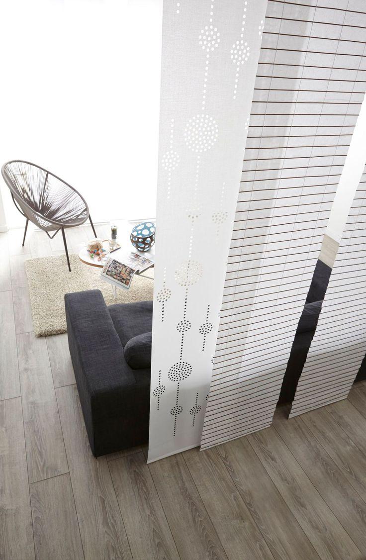 Panneaux japonais en 100 % polyester, 19,90 euros l'un, Leroy Merlin.