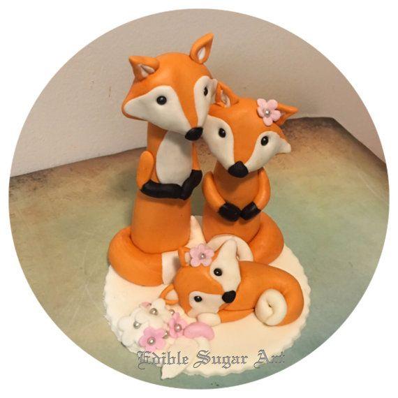 FOX BABY SHOWER Woodland herten taart door BabyCakesByJennifer
