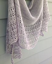 Rosewater is ethereal & elegant shawlette with garter stitch body and simple lace border featuring eyelets and dropped stitches.