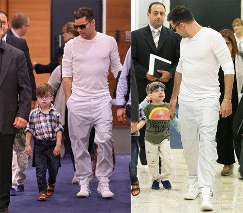 Ricky Martin y sus gemelos 'modelo' presumen de estilo #cantantes #famosos #people #celebrities