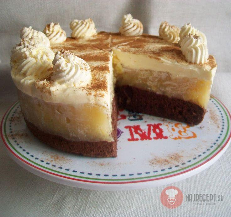 FotoRecept | Jablková torta s mascarpone plnkou