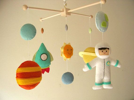baby crib mobile astronaut mobile space mobile universe. Black Bedroom Furniture Sets. Home Design Ideas