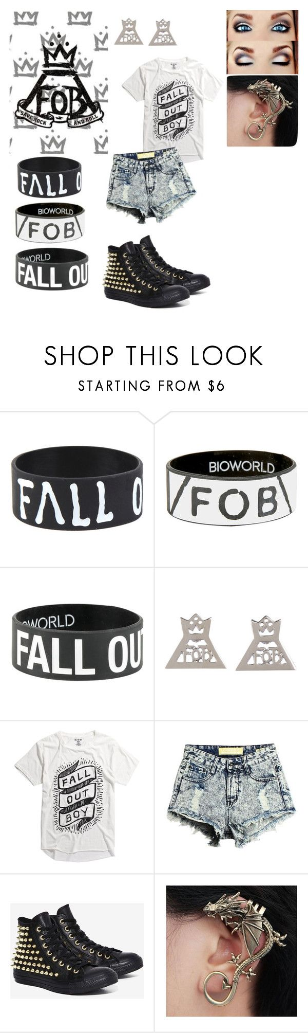 """Fall out boy concert"" by starbucksgirl3421 ❤ liked on Polyvore featuring Converse"
