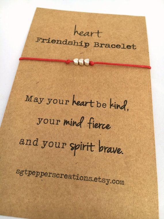 Amicizia Bracciale cuore  Silver Beads  di SgtPeppersCreations