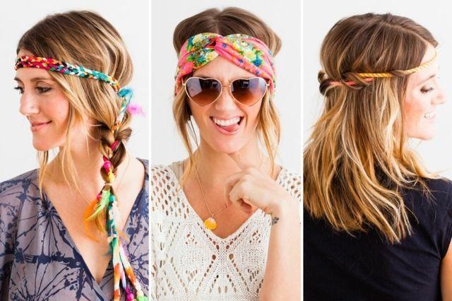 Hippie Frisuren Schone Styles Im Hippie Look Sommerfrisuren Haarband Frisur Hippie Frisur