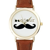 The Bonjour Mustache Watch! Love only $19.99