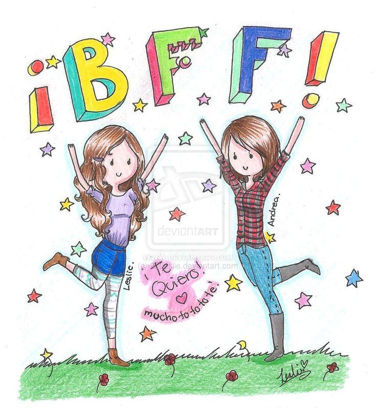 dibujos de amigas | Mejores Amigas Por Siempre! by 27Leslie on DeviantArt