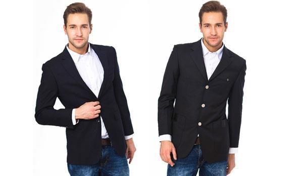Пиджак с джинсами правило