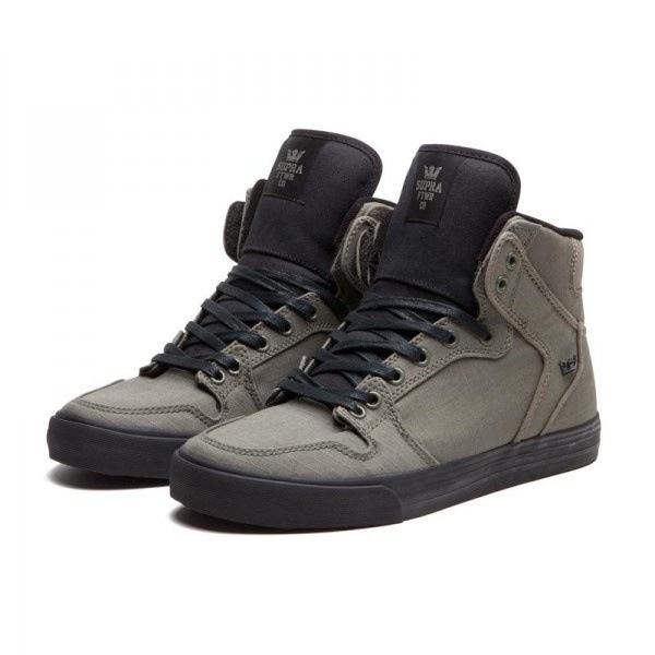 Supra Vaider Black Grey Perf Skate Shoessupra blacksupra lowwhere can i buy