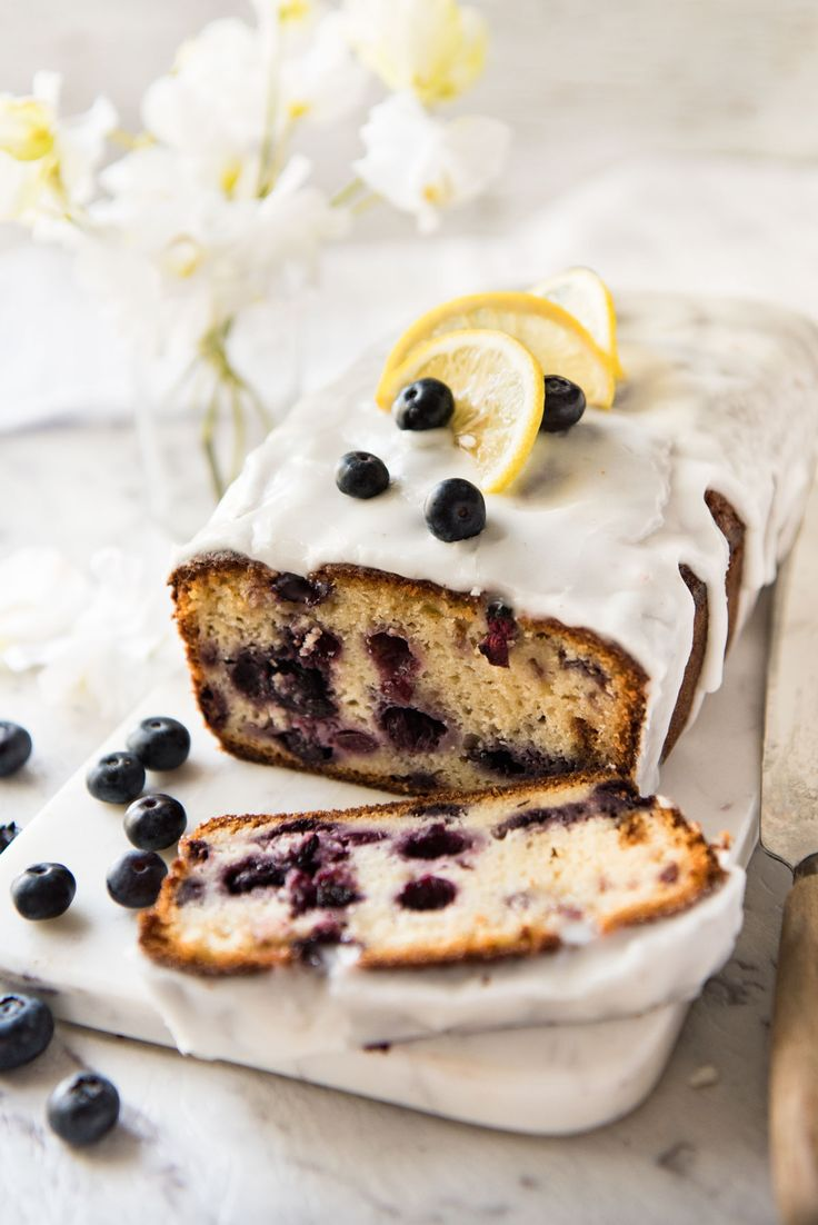 Less than 10 minutes to prepare this Blueberry Lemon Loaf that is incredibly moist! Adapted from a Barefoot Contessa recipe, it is so delicious, the lemon glaze is optional!