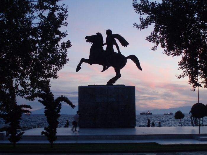 Statue of Alexander the Great at the Beach Road