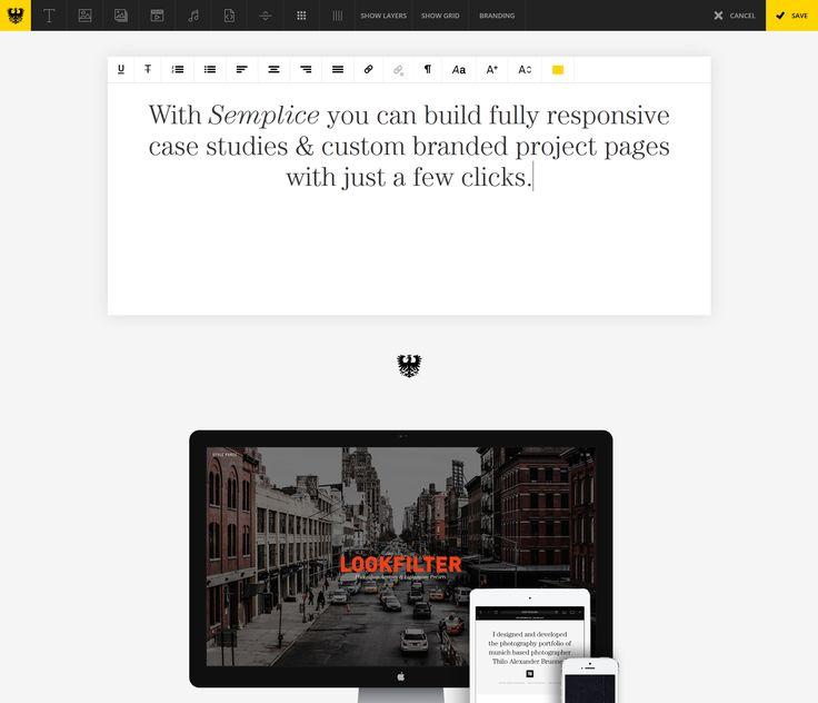 Simple text editor toolbar