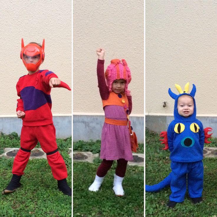 My Emiline. Living. Kids. Crafts.: Big Hero 6 Takes Halloween! #baymax #honeylemon #fred DIY Big Hero 6 costumes