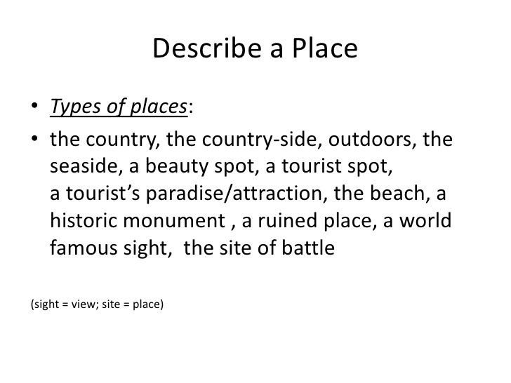 essay describing favorite place Check out our top free essays on describe a place to help you write your own essay.