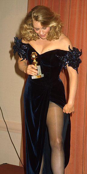 Cybill Shepherd Golden Globe In 1986 Academy Awards