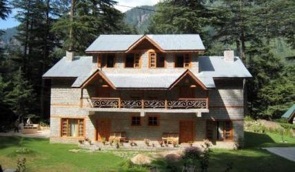 Façade of cottages at Casa Bella Vista, Himachal Pradesh, India