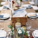 wood-banquet-table-mercury-glass-votives-charleston-wedding