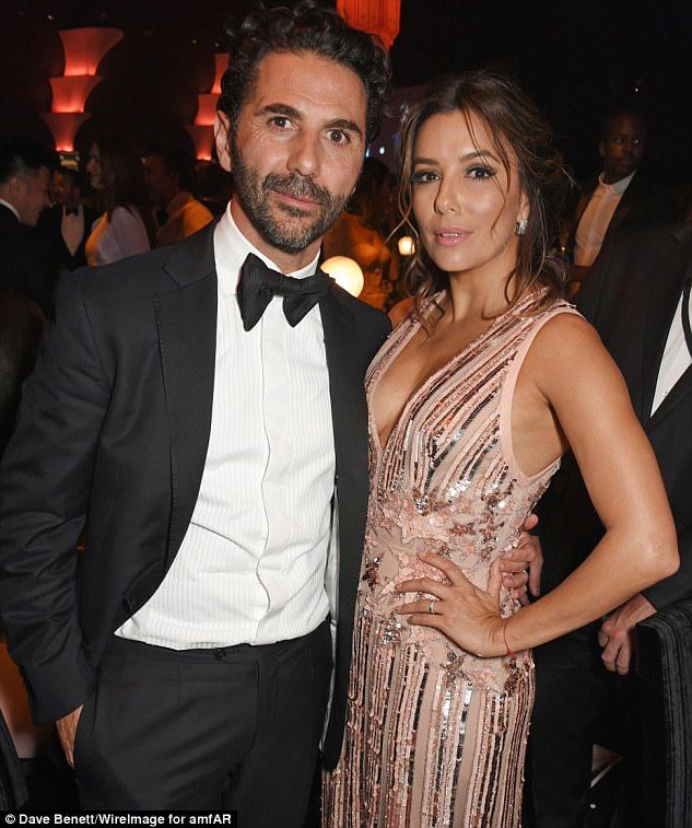 Loved-up: Eva and Pepe began dating in 2013 and got engaged two years later in Dubai, before tying the knot in his native Mexico in May 2016 (pictured in Cannes, France, in May)