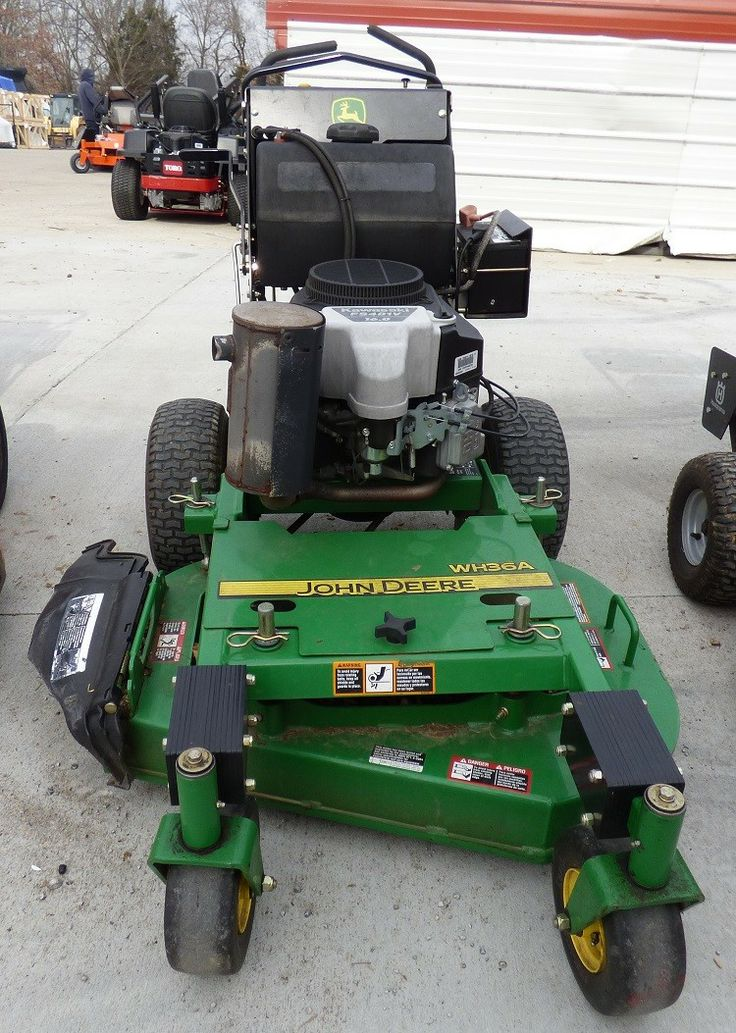 Used John Deere Wh36a 36 Walk Behind Lawn Mower 16 Hp