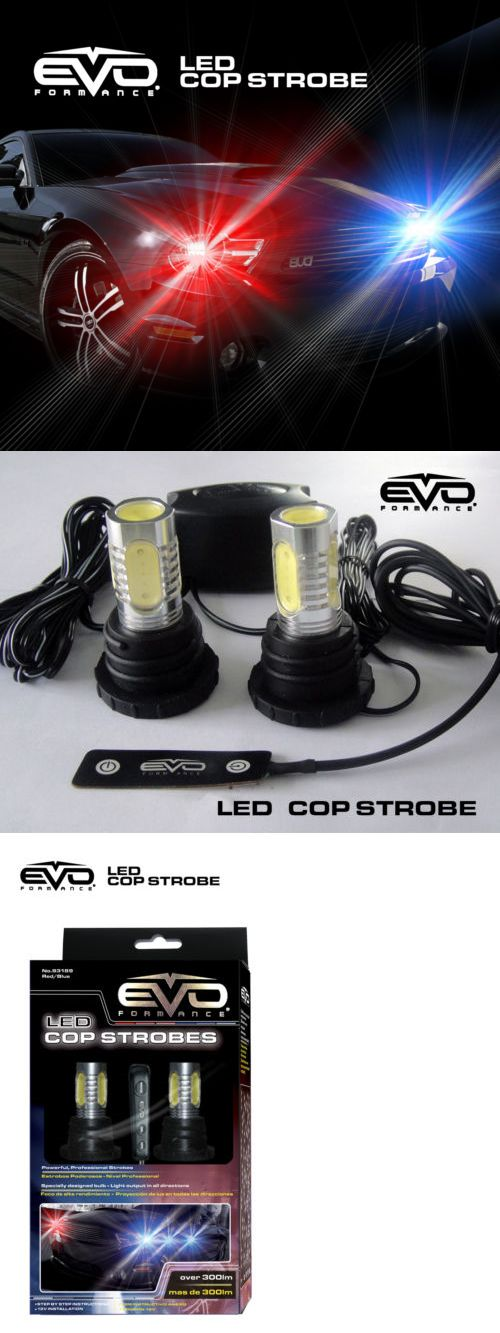 Motors Parts And Accessories: Evo Formance Universal Led Cop Strobe Light Headlight Kit Blue Red For Car-Truck -> BUY IT NOW ONLY: $74.99 on eBay!
