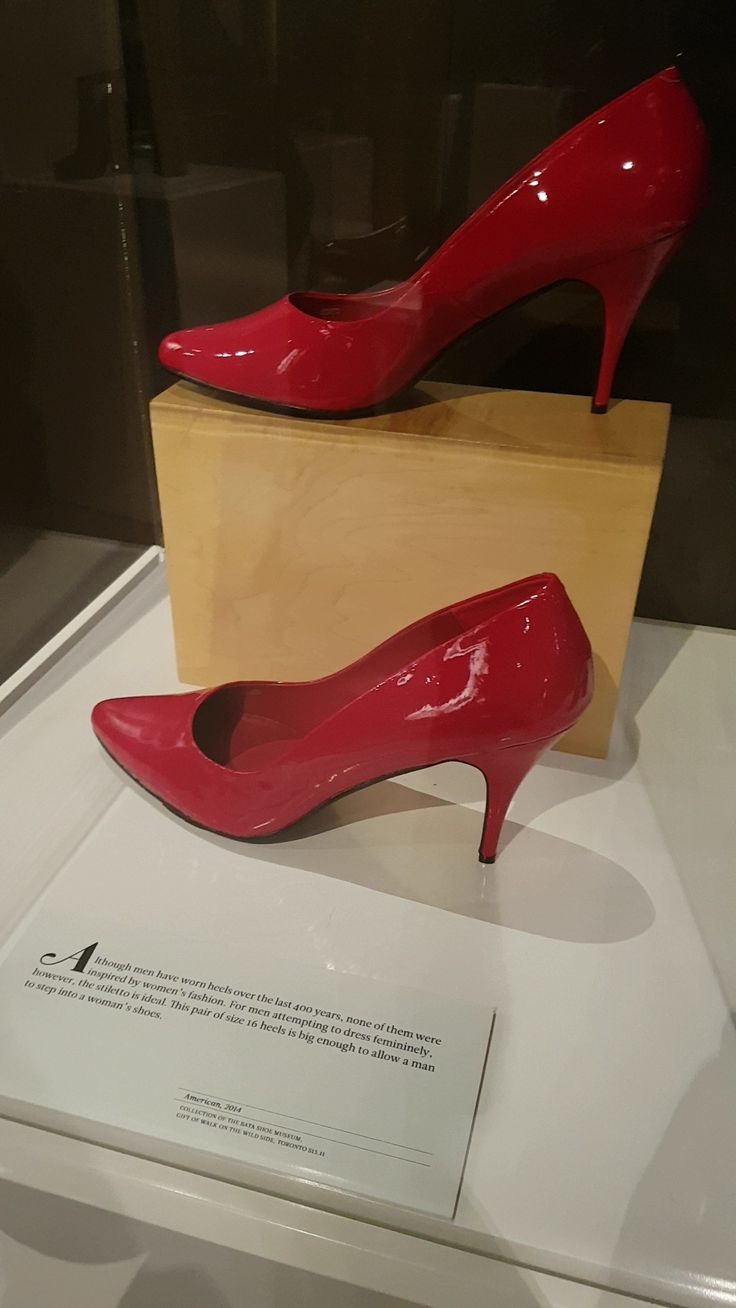 A pair of colourful high heels