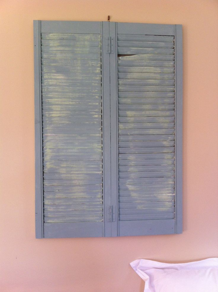 Old shutter found in the wood pile!! Painted up with chalk paint...