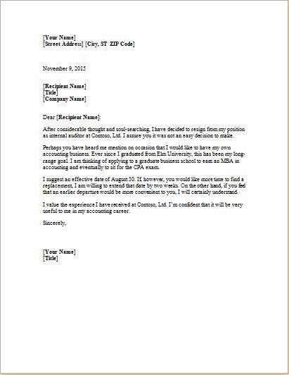 Resignation letter template at http://worddox.org/formal-resignation-letter/